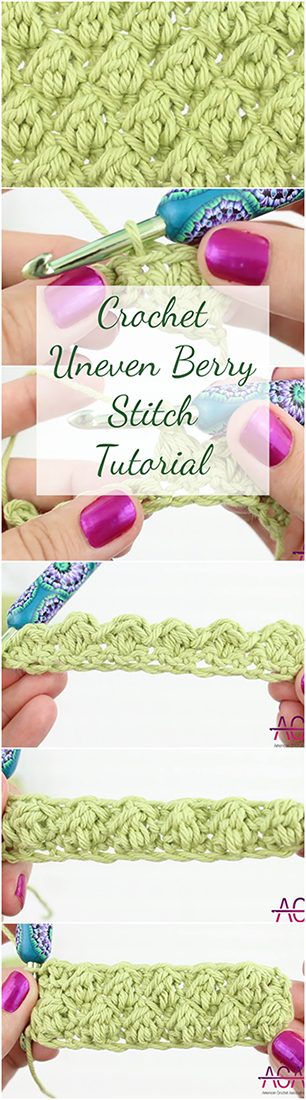 Crochet Uneven Berry Stitch + Free Video Tutorial For Beginners ...