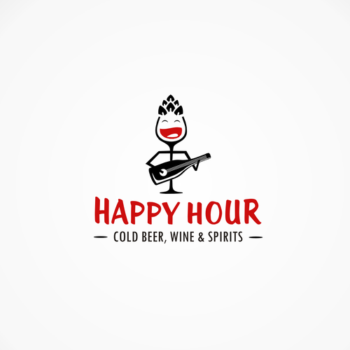 Happy Hour Wine Spirits Happy Hour Needs A Logo With A Unique Twist Wine And Spirits Happy Happy Hour