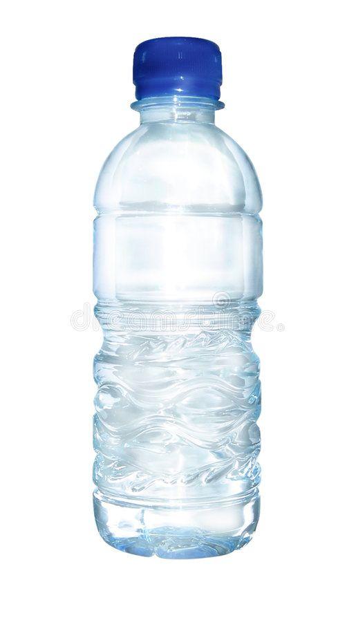 Bottled water. Clear bottled water for label design ,