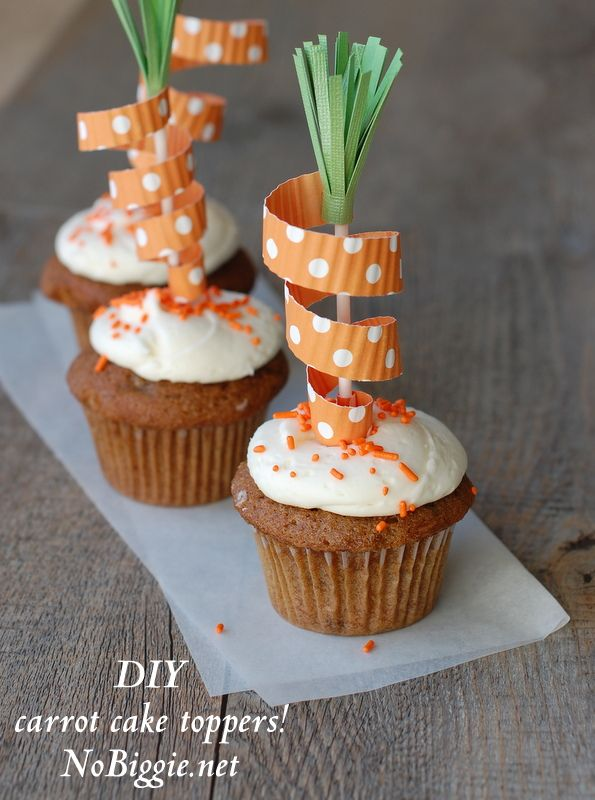 Easter Carrot Cake Decorating Ideas : DIY carrot cake toppers Carrots