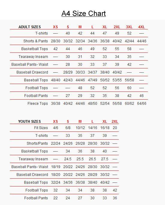 Youth football jersey size chart  varsity blank also rh pinterest