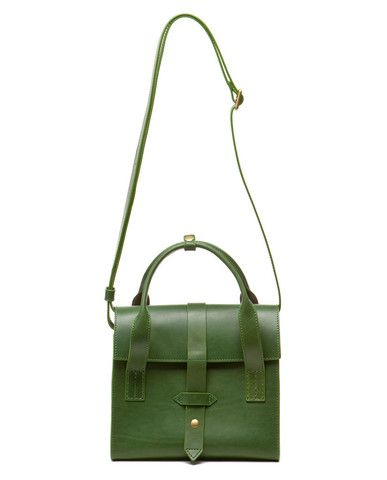 love this deep green iiibeca bag for fall!