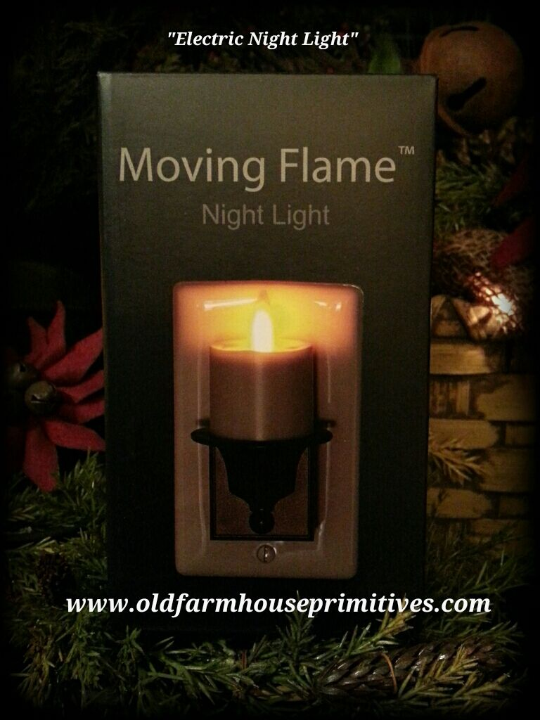 Moving Flame Electric Ivory Night Light
