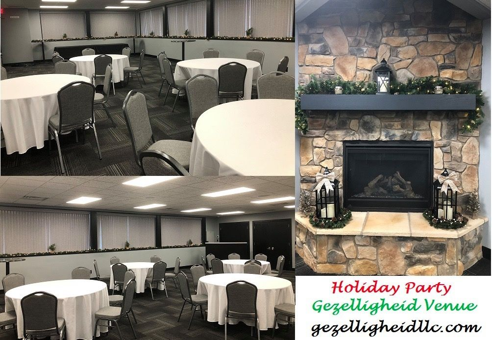 We are so honored to host a holiday party for a local association!  Happy Holidays from Gezelligheid LLC Venue!! #gezelligheid #venue #eventvenue #eventspace #meetingroom #holidayparty #holidaypartyvenue #merrychristmas #christmasparty #hollandmi #hollandmichigan #cozyaffordablefun