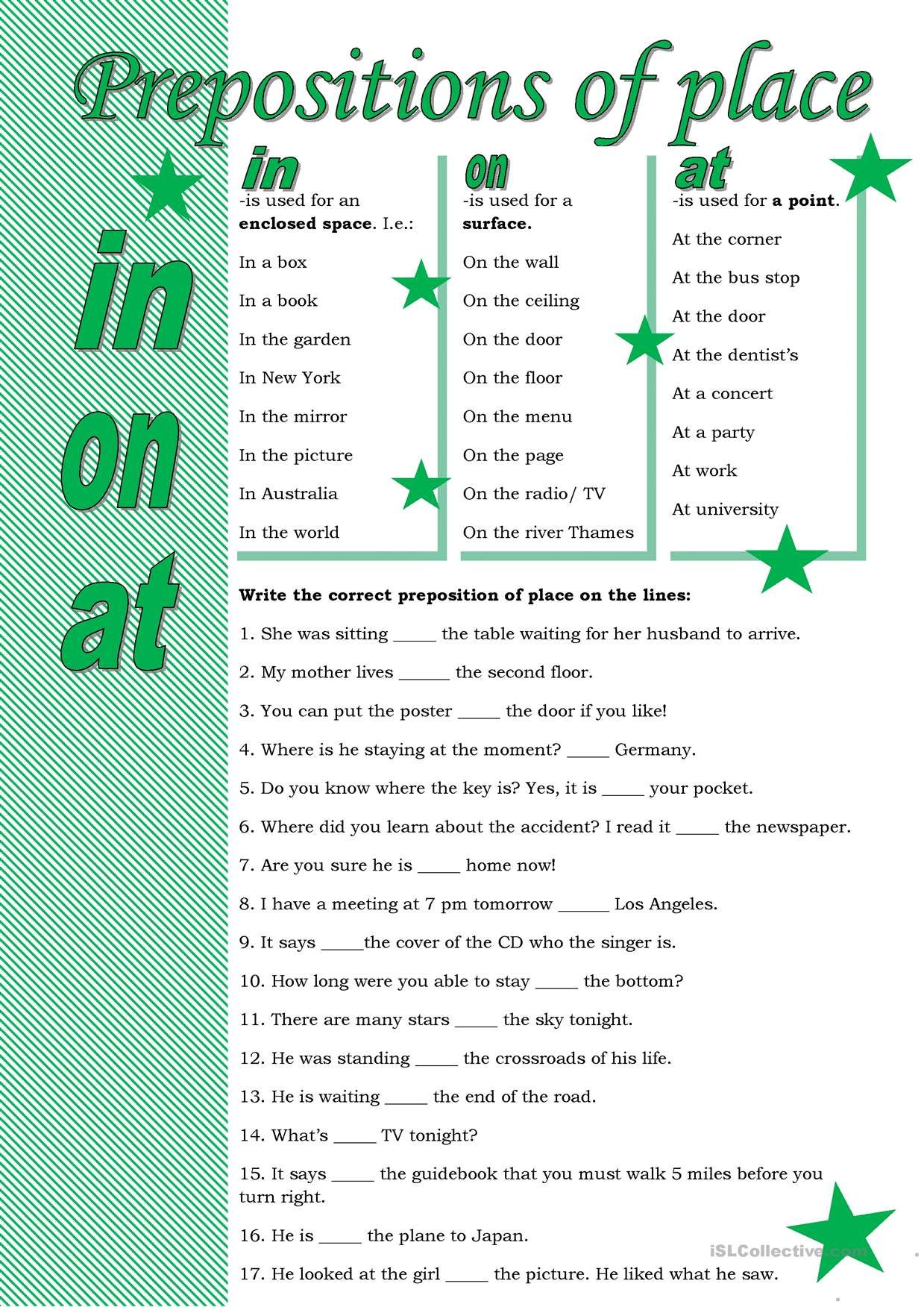 One Click Print Document Prepositions Learn English Words English Grammar Exercises [ 1752 x 1239 Pixel ]