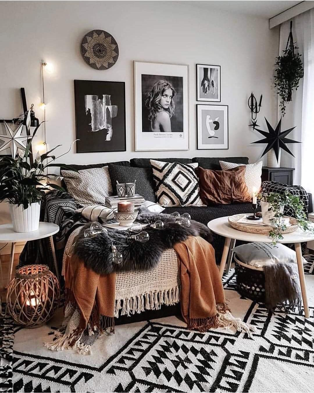 Modern Boho Living Room Ideas Inspiration For A Modern Bohemian Living Room With M Bohemian Style Living Room Living Room Decor Modern Living Room Inspiration