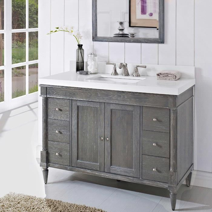 Gentil Fairmont Designs Rustic Chic Vanity / :: Bath Vanity From Home U0026 Stone We  Would Need To Tile The Bathroom Floor If We Went With The Silvered Oak  Color ...