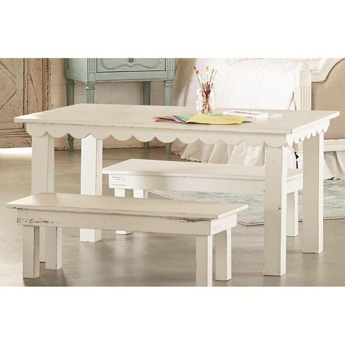 Lovely Magnolia Home Farmhouse Kid Table In Jou0027s White