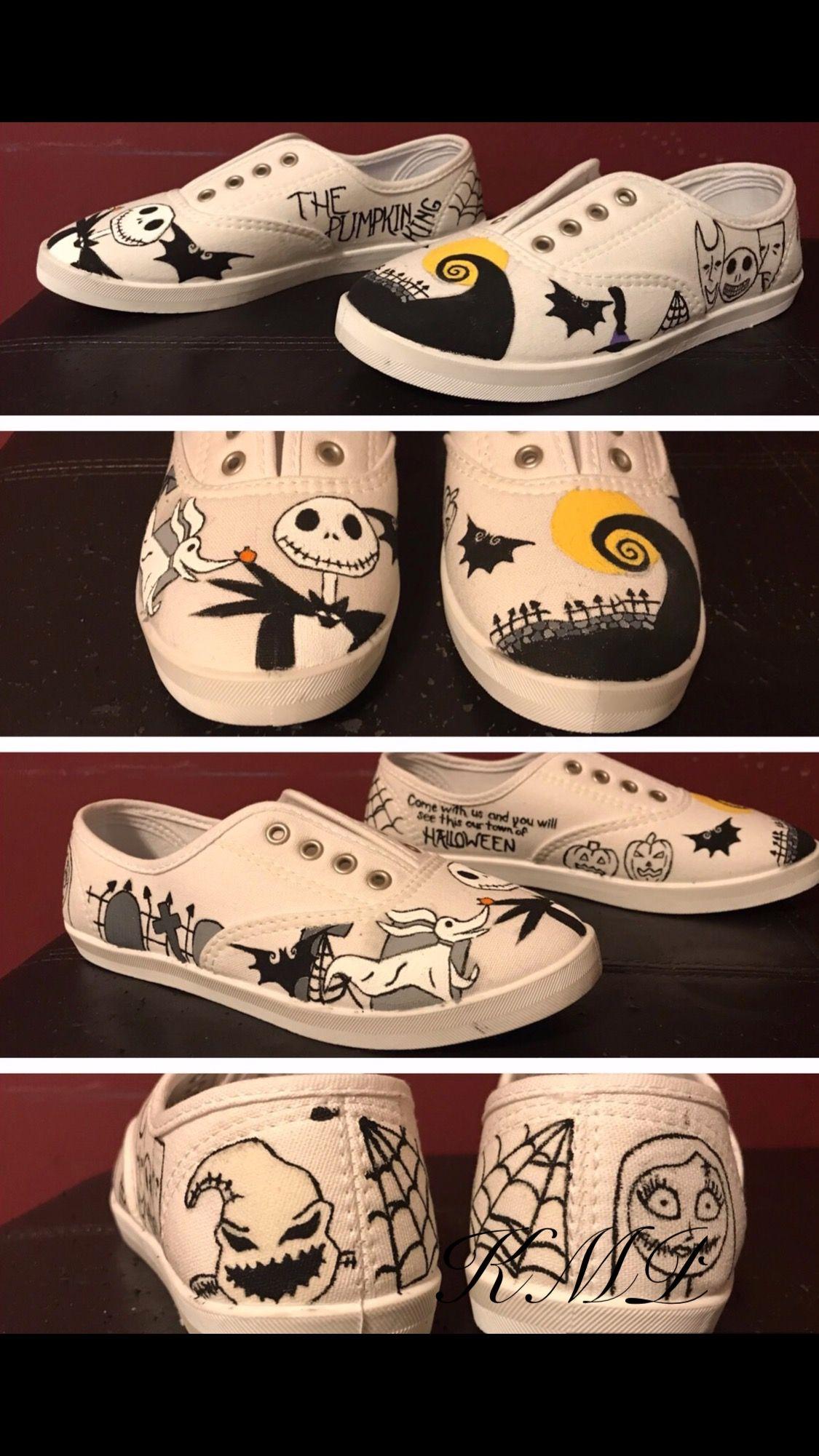 Nightmare Before Christmas Shoes Diy.Pin On Nightmare Before Christmas Theme