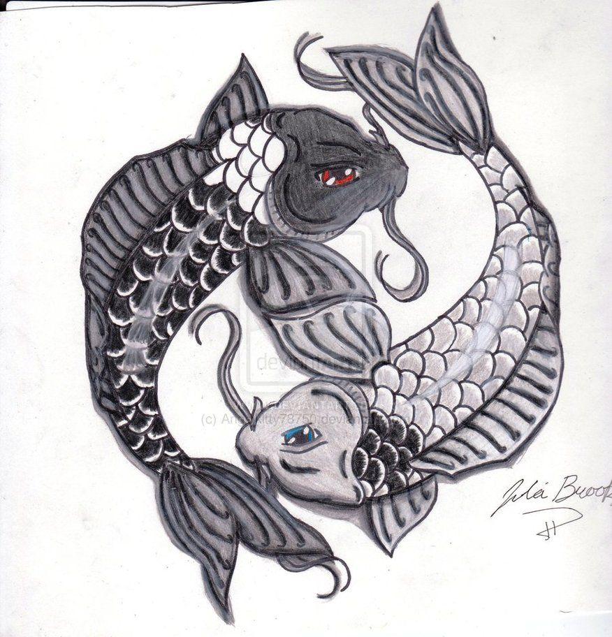 Fish Art design   Yin and Yang Koi Fish by Angelkitty78750 ...