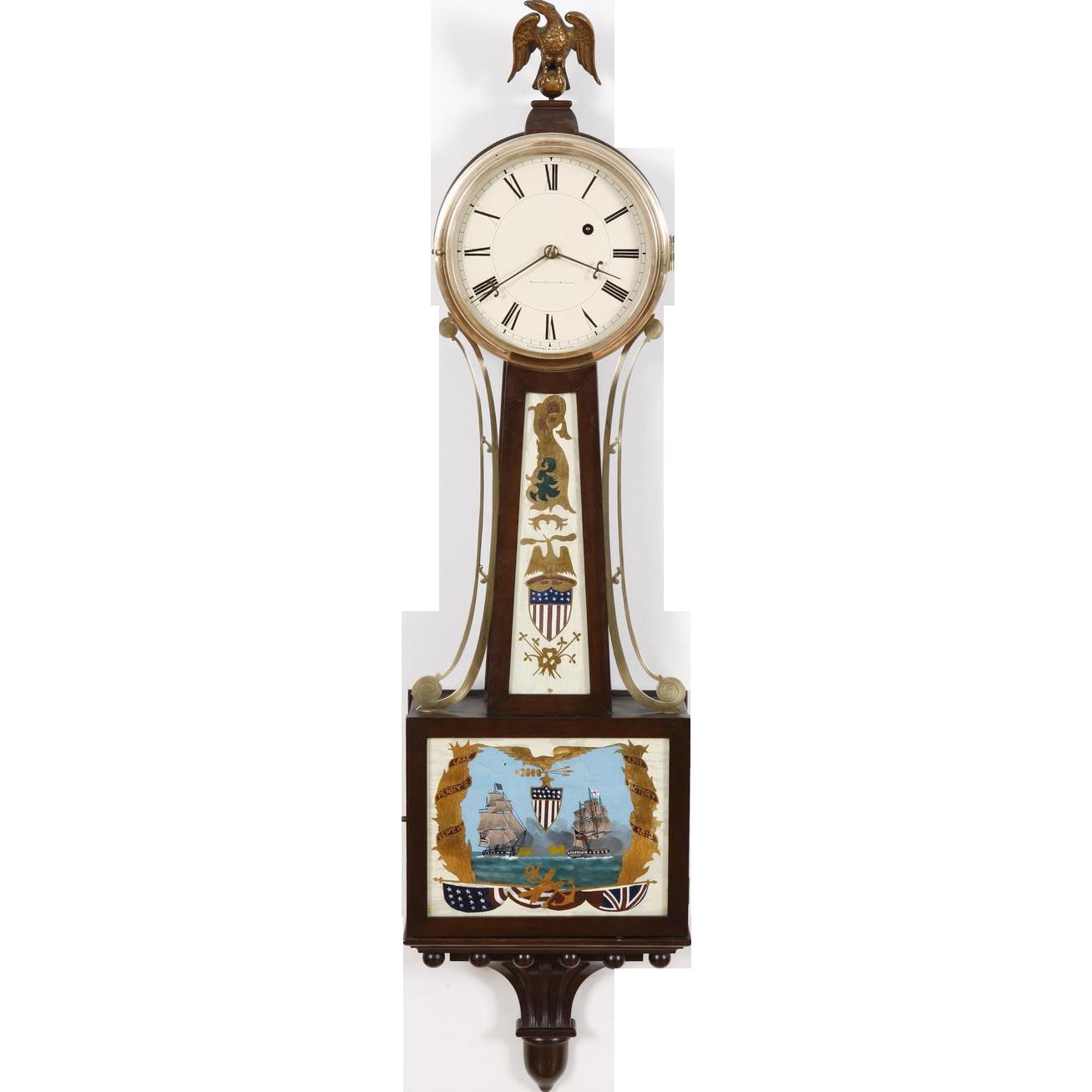 E Howard Boston 95 Weight Driven Banjo Clock C 1925 Signed Dial Works At Rubylane Com Vintagebeginshere Vintageclo Clock Vintage Clock Antique Wall Clock