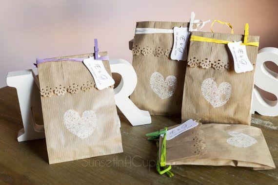 10 kraft paper bags - wedding favors