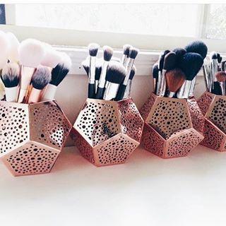 Pinceis Organizador De Pinceis De Maquiagem Organizacao De Maquiagem Organizacao Para Maquilhagem