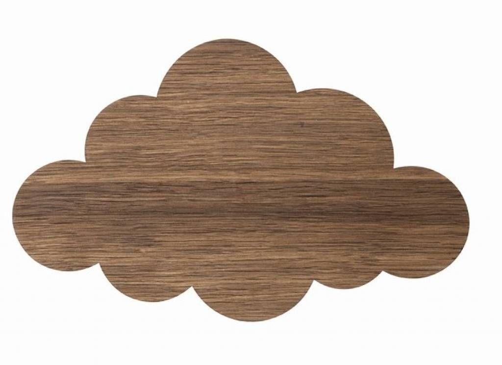 Ferm Living Wandlampe Wolke aus Holz, braun, 40x25cm