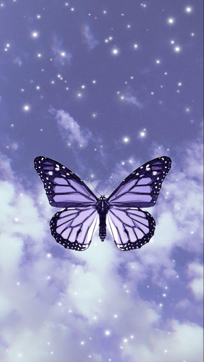 Purple Butterfly Wallpaper In 2020 Purple Butterfly Wallpaper Butterfly Wallpaper Purple Butterfly
