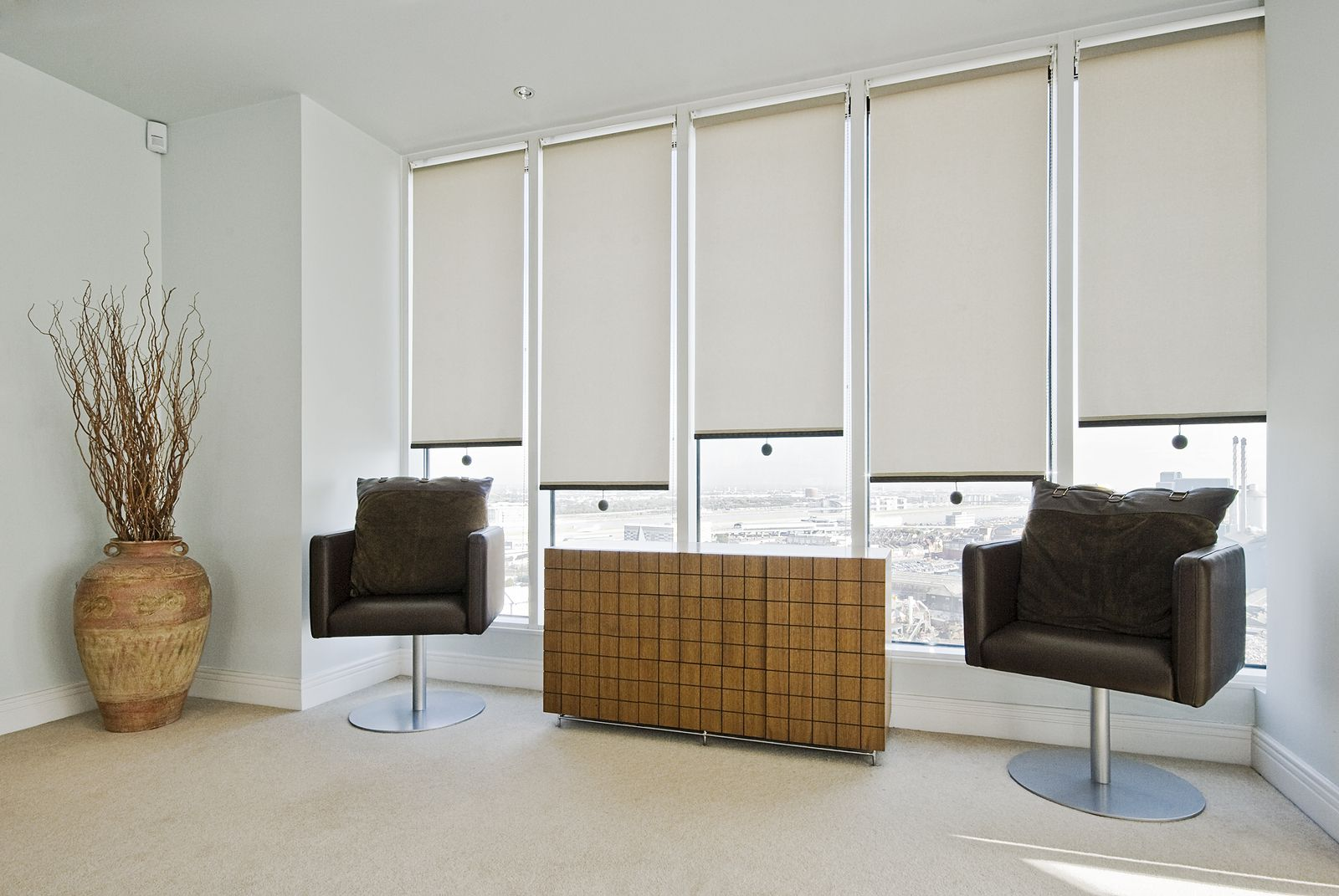 Door With Blinds Built Inside | Roller Blinds Are One Of The Simplest And  Most Popular
