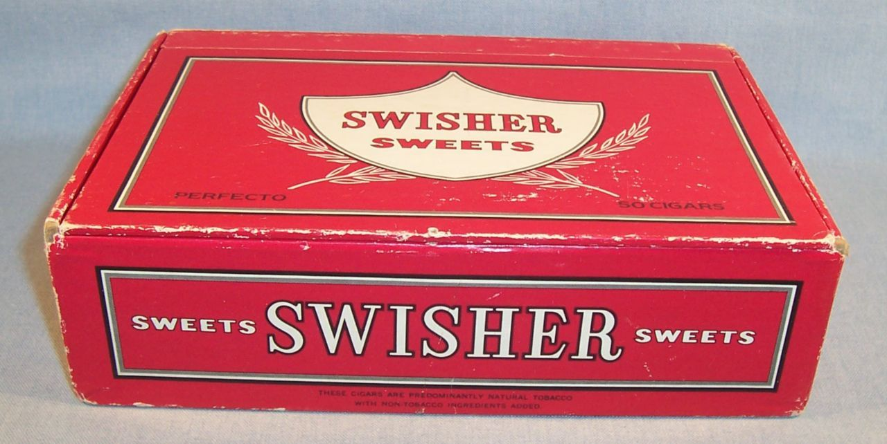 Old School Swisher Sweets Cigars Cigarillos Smoke Em Pencil Boxes For School Vintage Cigar Box Pencil Boxes