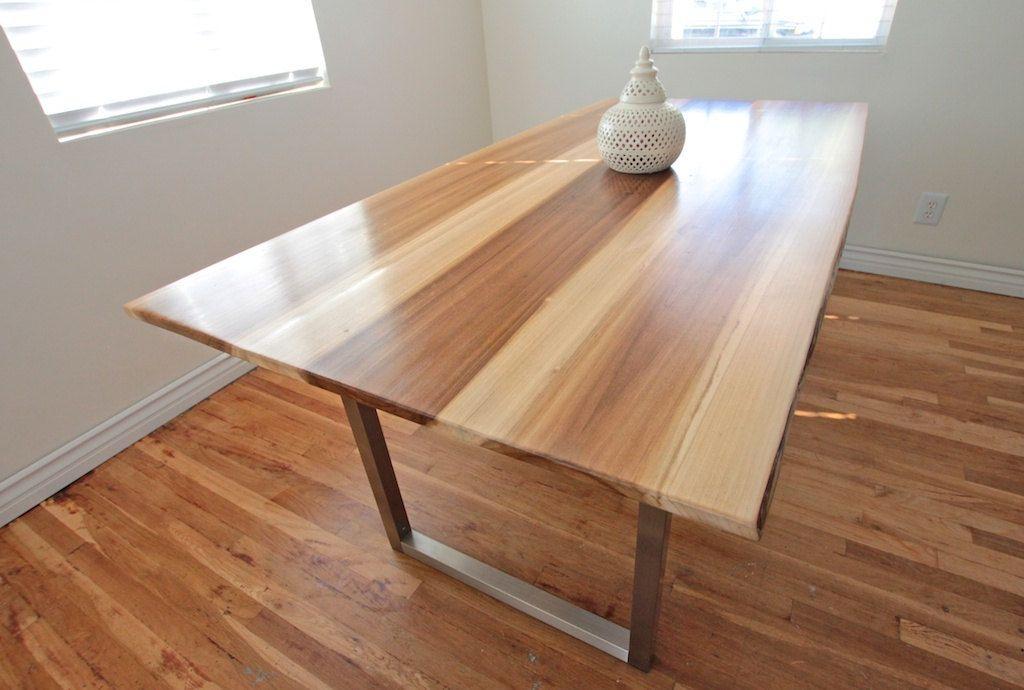 minimalist modern industrial office desk dining. Modern Industrial Minimalist Dining Table // Office Desk Sun Tanned Wood And Steel. $800.00, Via Etsy. MonkandHoney. Sooo Cool! A