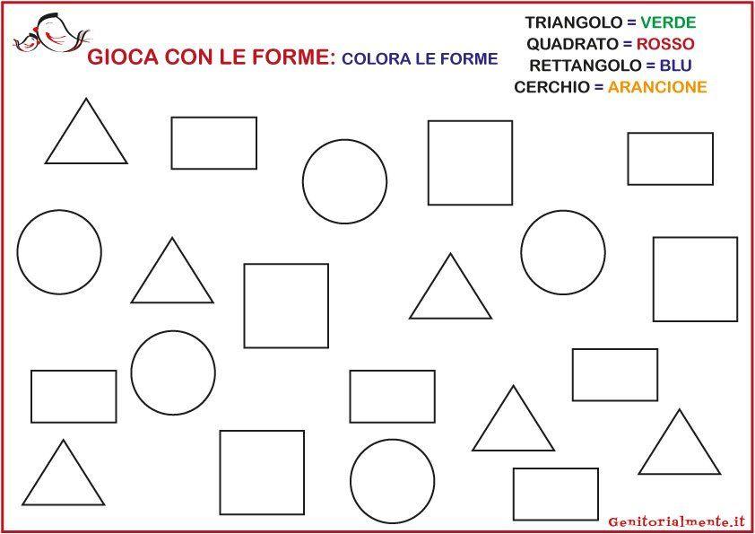 Schede Sulle Figure Geometriche Da Scaricare Geometria Forme
