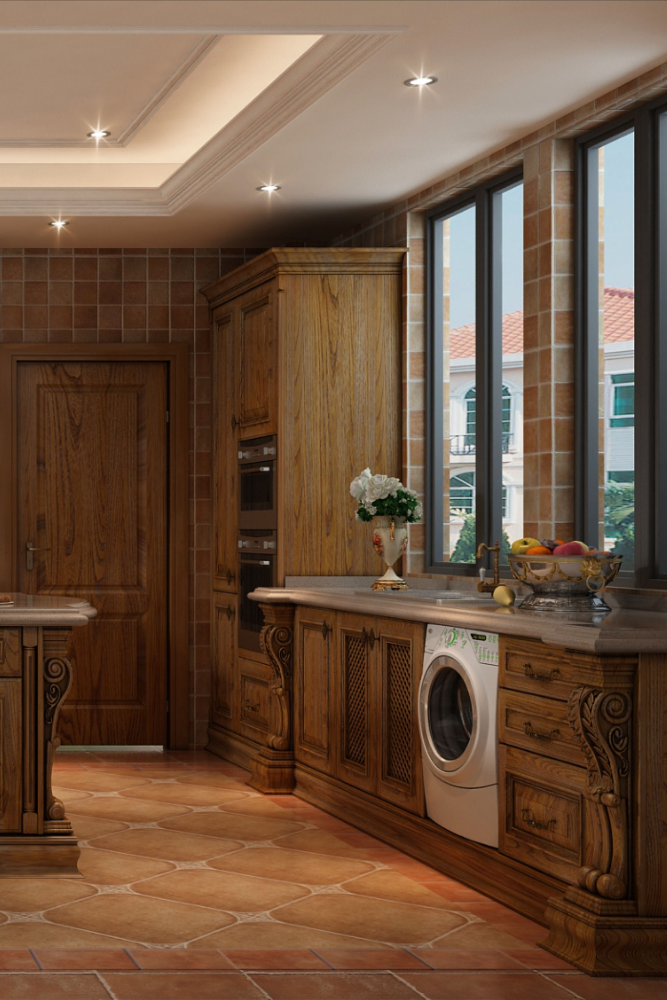 Classic Solid Wood Kitchen Cabinet In 2020 Solid Wood Kitchen Cabinets Wood Kitchen Cabinets Kitchen Cabinets