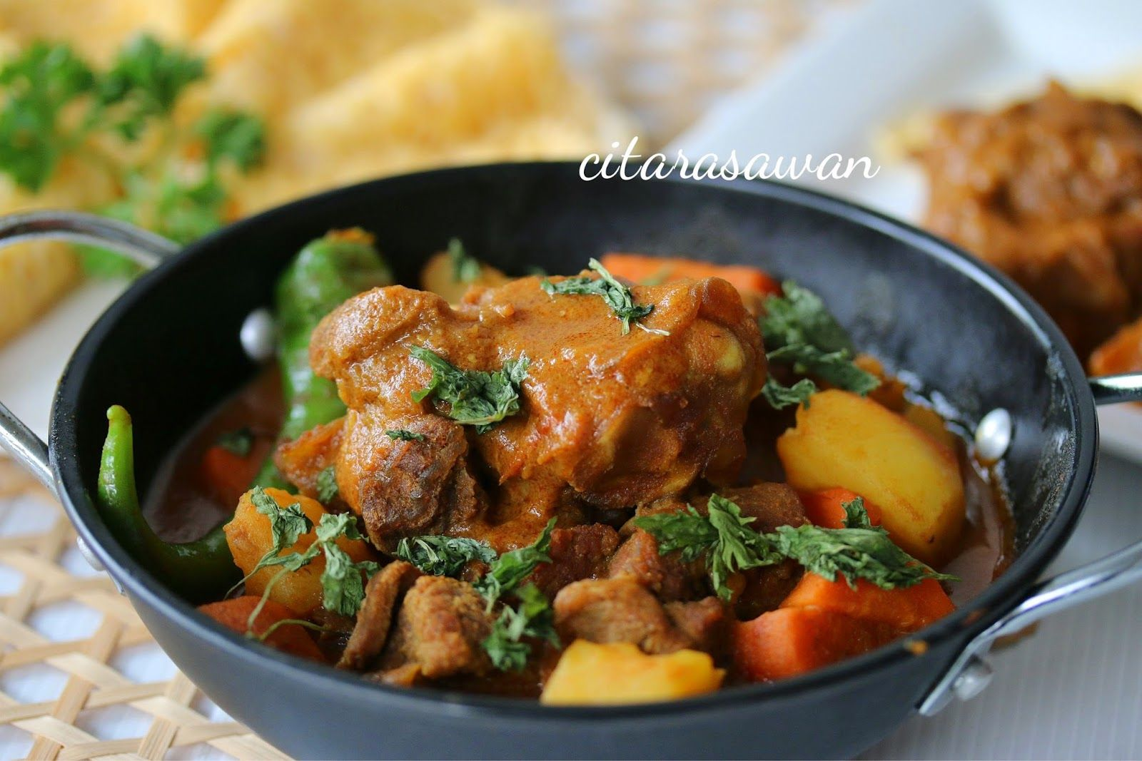 Kari Kambing Madras Madras Lamb Curry Resipi Citarasawan Daging Domba Resep Daging Kambing