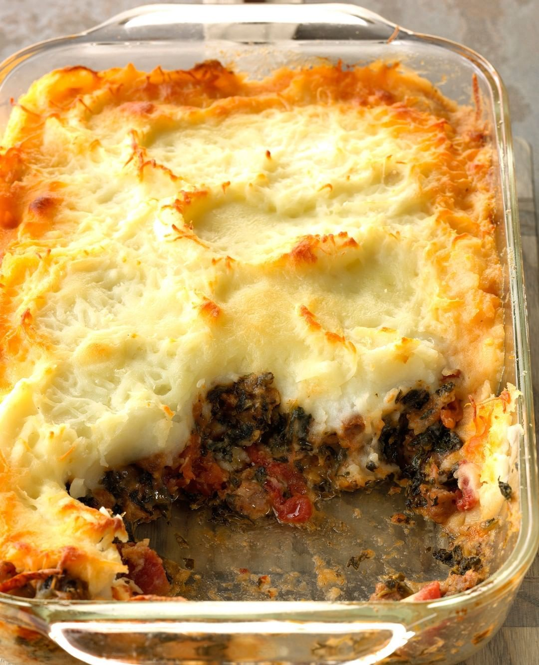 Taste Of Home On Instagram This Italian Take On Shepherd S Pie Is So Simple To Prepare And It Makes Great Leftovers Click The Li In 2020 Recipes Food Shepherd S Pie