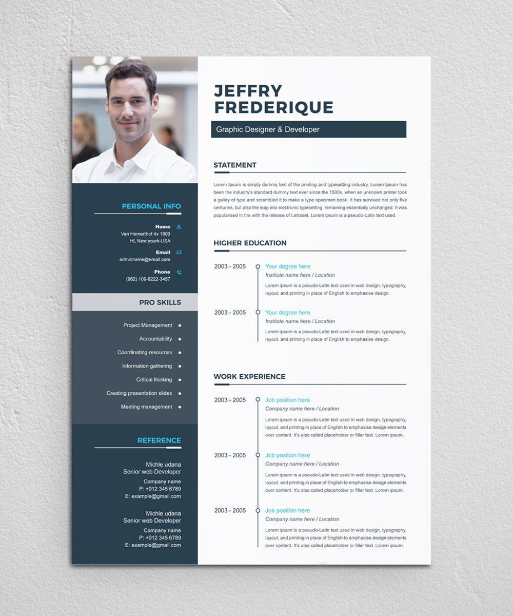 Jeffry Resume Template Ad Resume Jeffry Resume Template Resume Design Template Resume Design Free Unique Resume Design