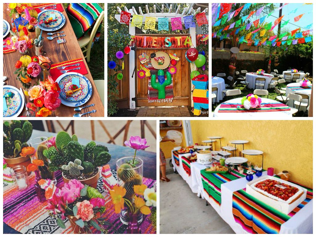 Decoracion mexicana fiesta pinterest decoraciones for Decoracion kermes mexicana