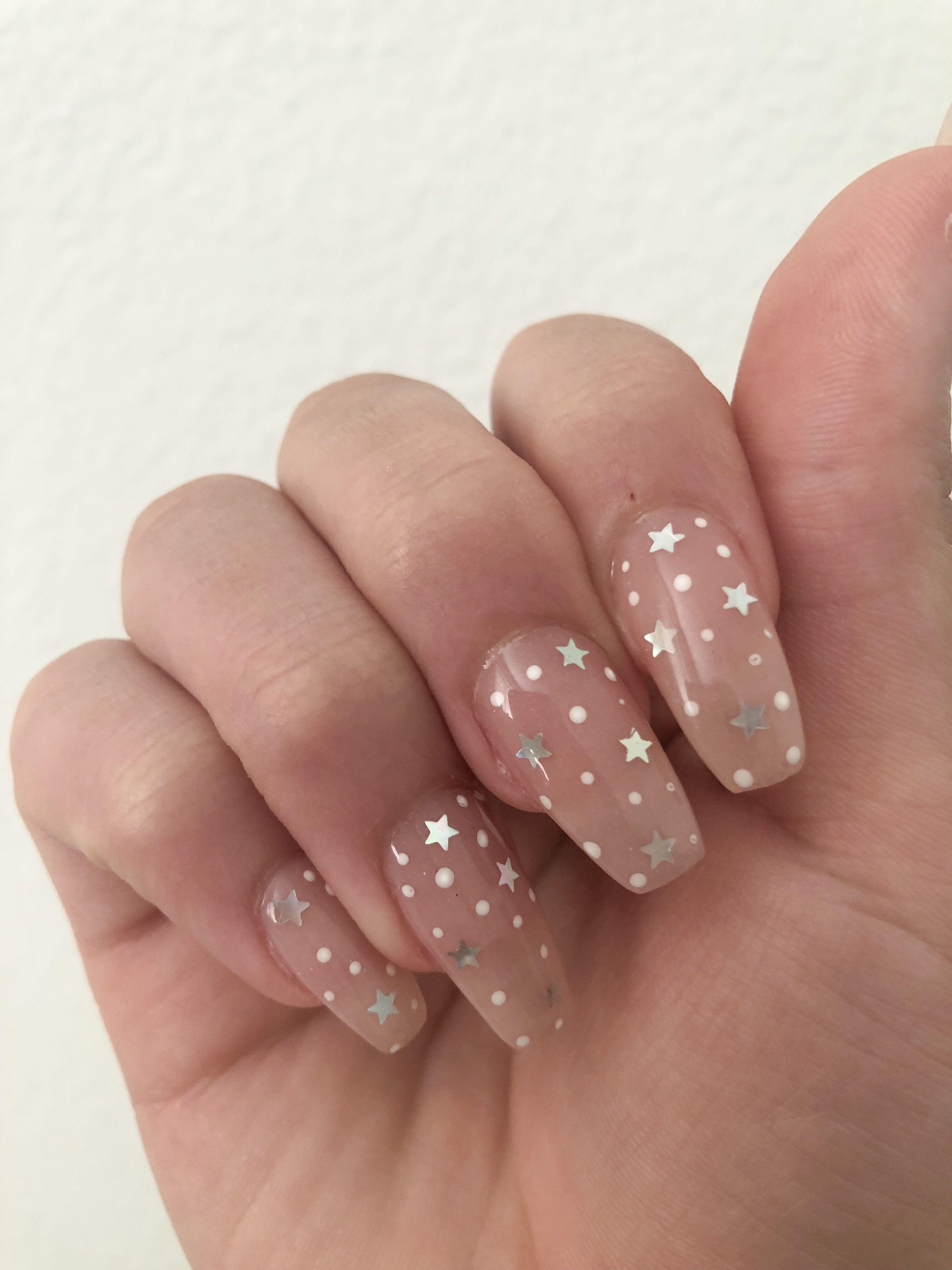 Star Nails Insta Carlygiotto Star Nail Designs Cute Acrylic Nails Holographic Nails