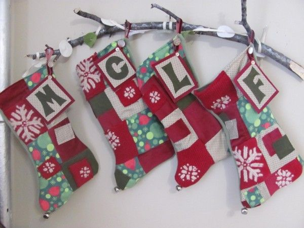 A Creative Way To Hang Our Stockings On The Wall 3the Holidays