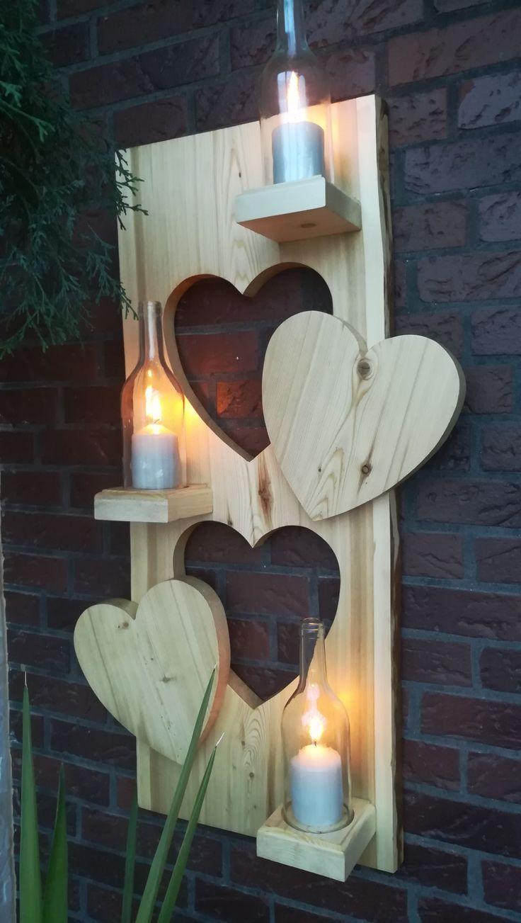 Herz aus holz - Holzideen #holzdekoration