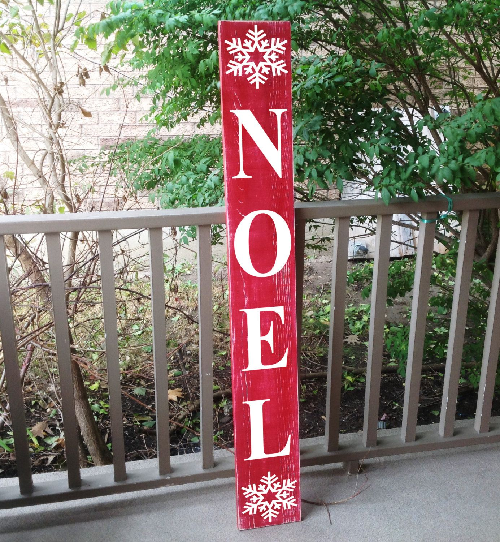 vertical sign front door decor noel christmas sign custom wood