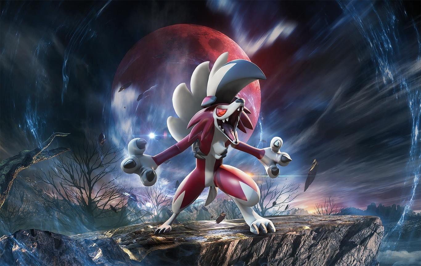 Midnight Lycanroc By R Nowong Deviantart Com On Deviantart Alolan Exeggutor Pokemon Art Pokemon Rockruff Pokemon