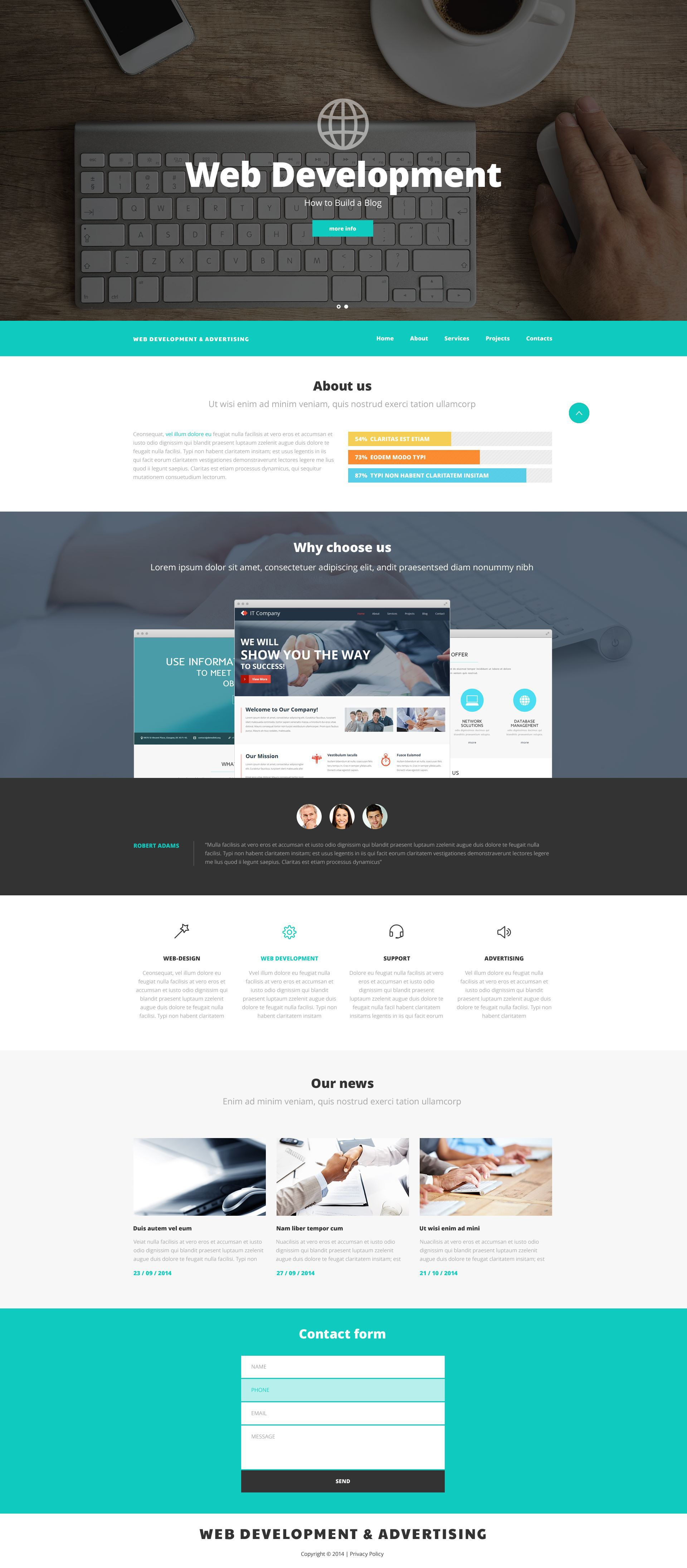 Web Design And Advertising Website Template Website Design Web Advertising Ecommerce Website Design Web Design Tips Web Design Quotes