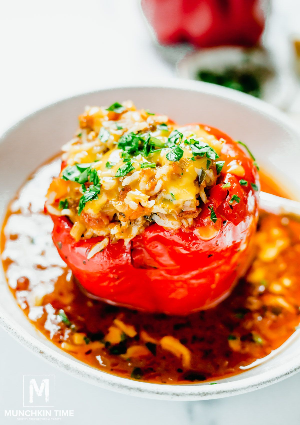 Stuffed Bell Peppers Instant Pot In 2020 Stuffed Peppers Homemade Beef Broth How To Cook Rice