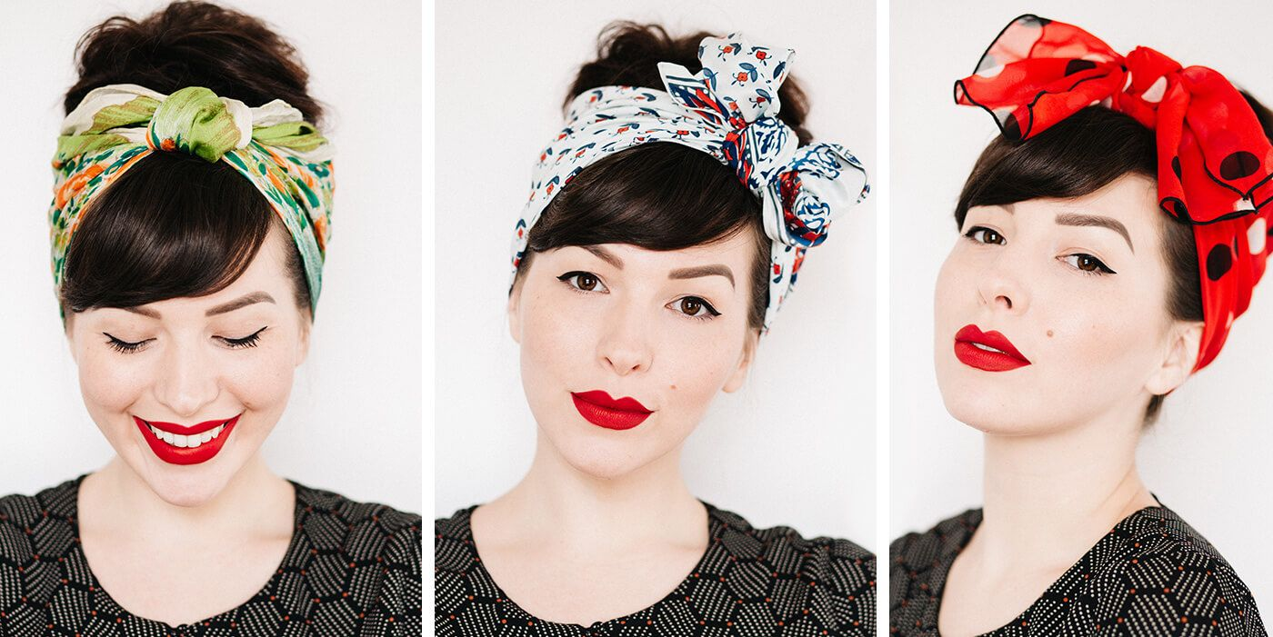 How to tie a head scarf 3 different ways with video tutorial - Keiko Lynn