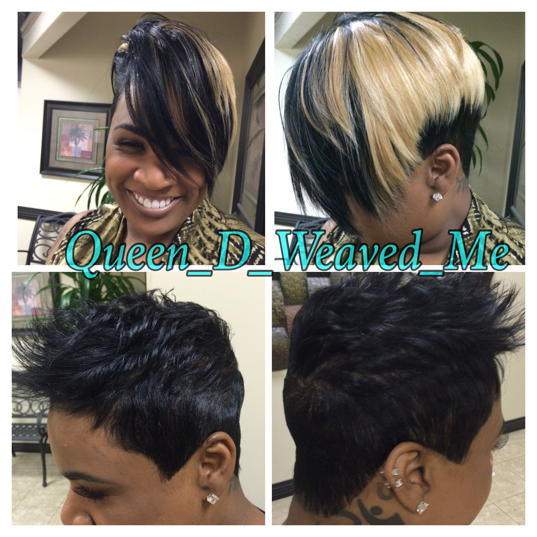 Short Sewin Hair Extensions Same Client Different Day Different