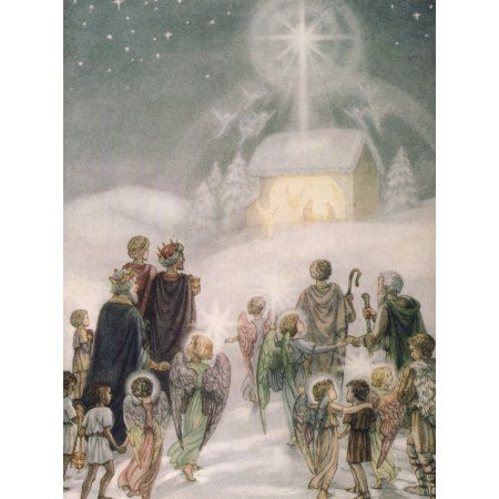 Religious Christmas Cards 2019 Holy Star Canvas Art   Daphne Allan (18 x 24) | Products in 2019