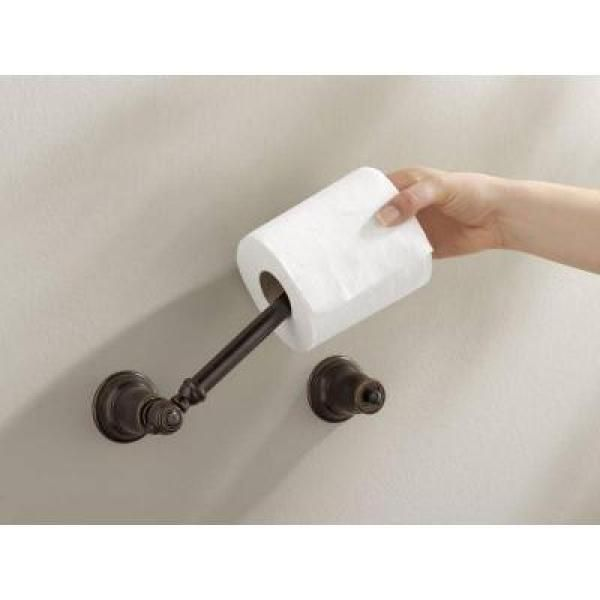Strikingly Design Porcelain Toilet Paper Holder. We Outfitted Our Baths  With Moen S Kingsley Line