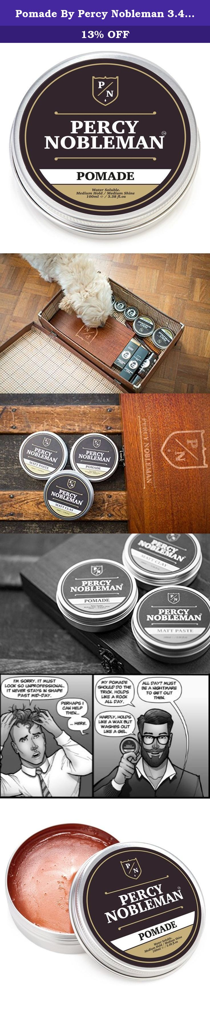 Pomade By Percy Nobleman  Ounce A British Male Grooming Brand