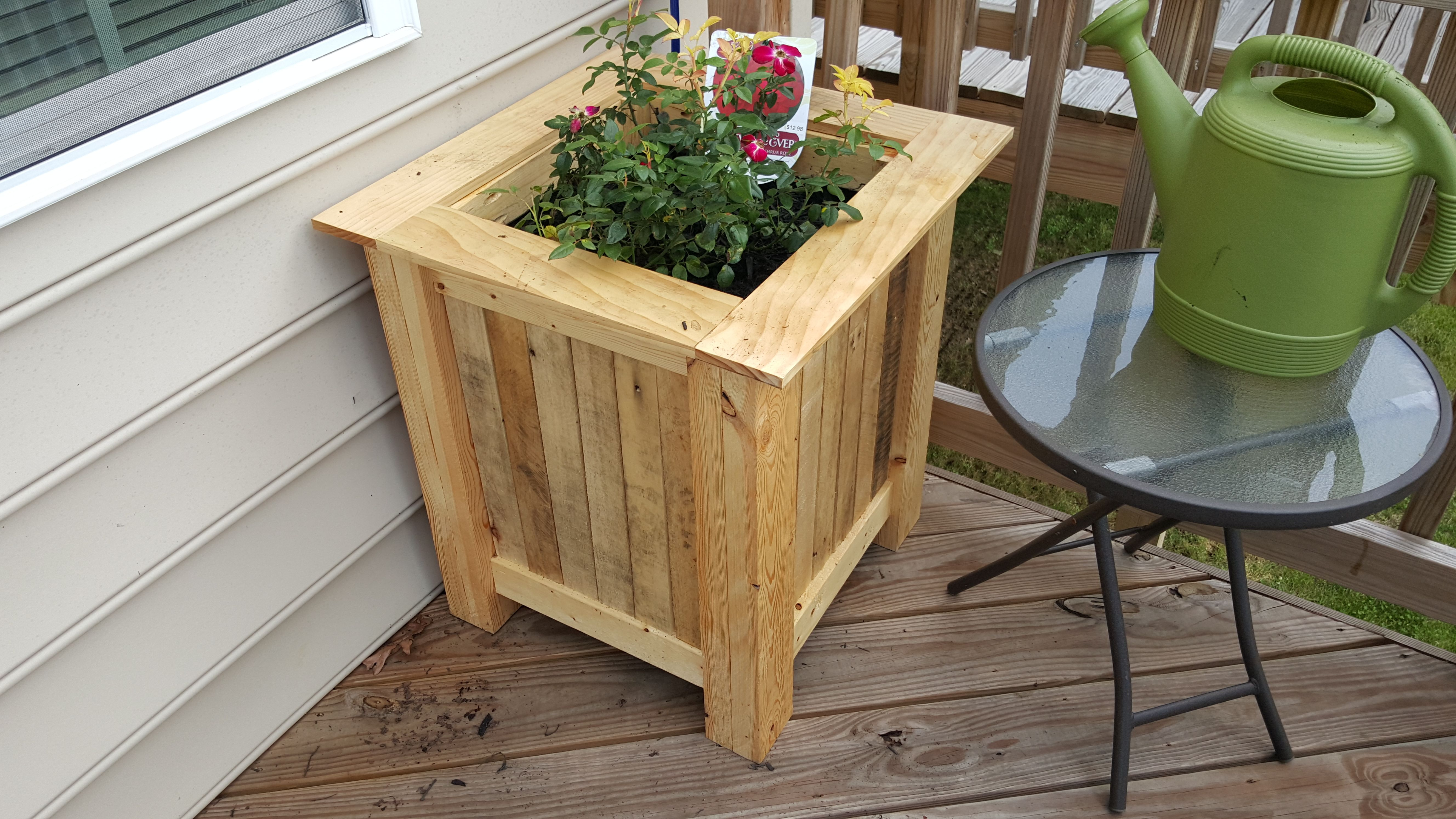 I built a version of Steve Ramsey's planter box. I built