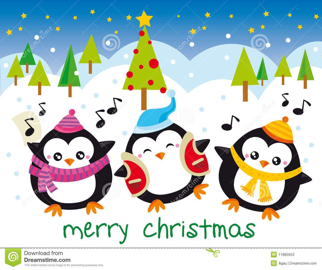 Download Christmas Penguins Cartoon Vector via CartoonDealer