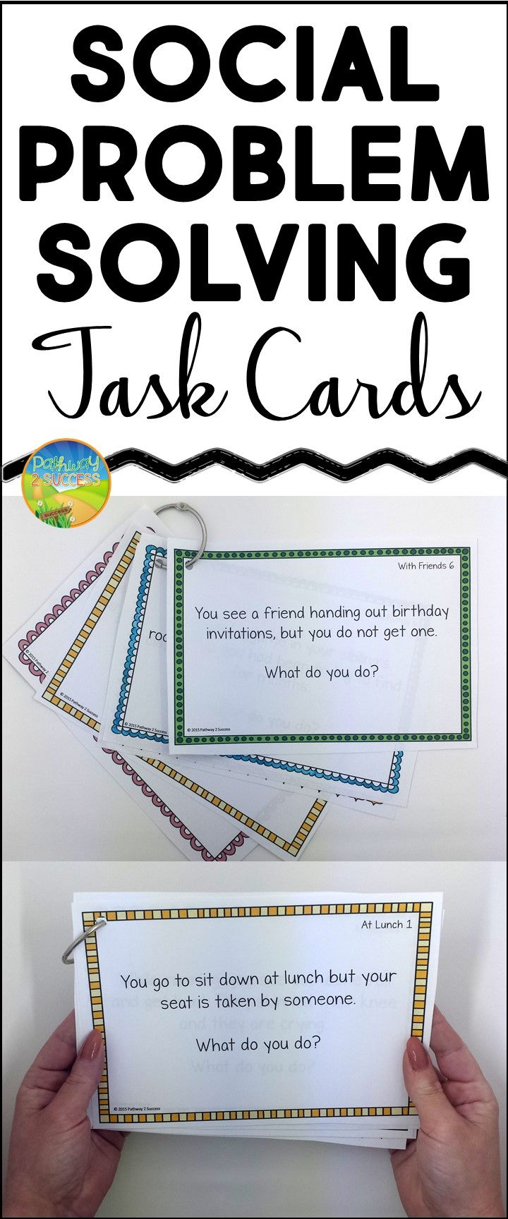 Social Skills Problem Solving Task Cards For Small Groups