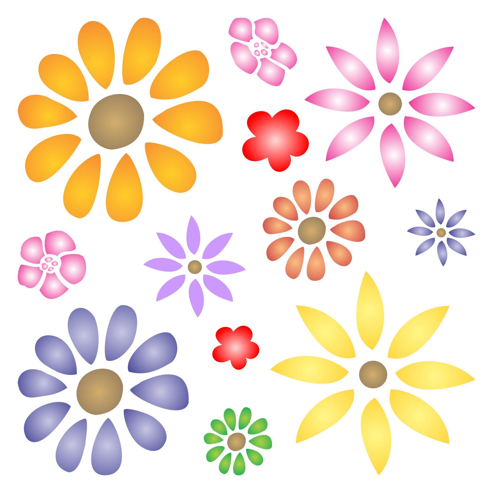 Flower power stencil