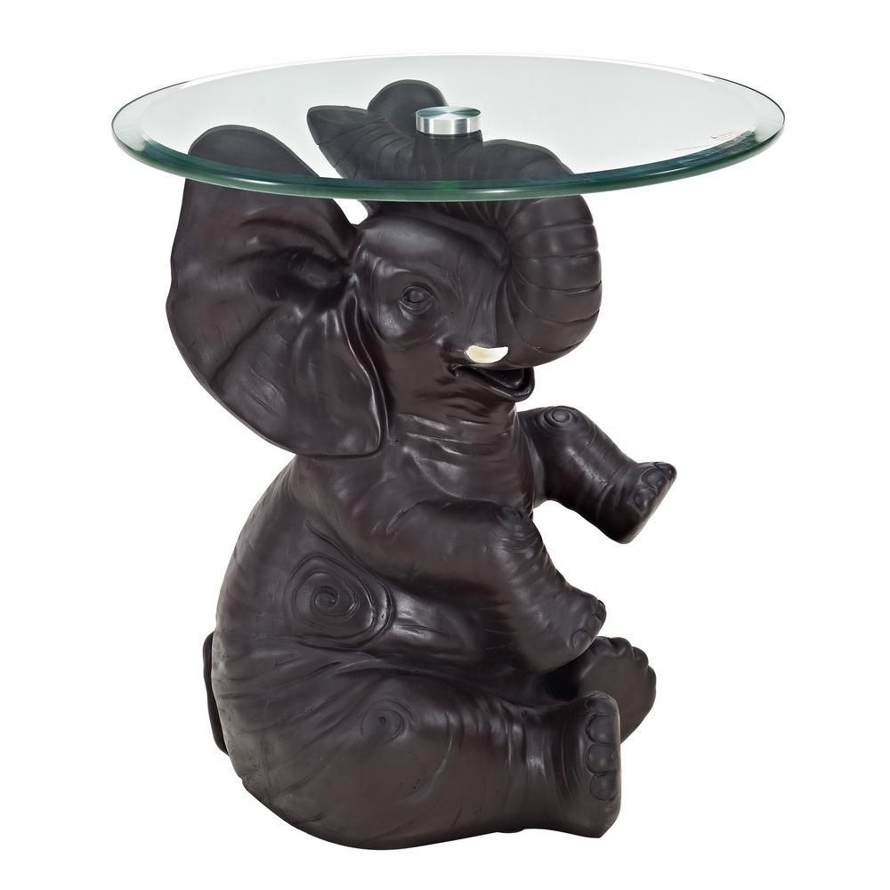 Powell Ernie Elephant Side Table Ships In 2 Cartons Black Side Table Elephant End Tables [ 1000 x 1000 Pixel ]