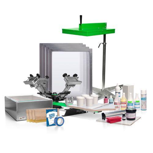 Semi-Pro™ 4 Color Silk Screen Printing Kit | Screen Printing