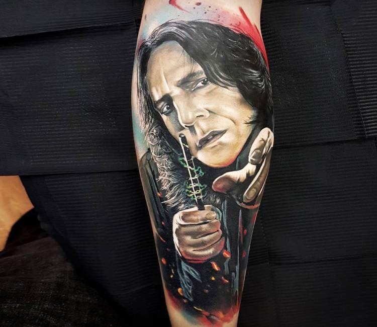 Severus Snape Tattoo By Marek Hali Post 20996 Severus Snape Tattoo Harry Potter Tattoos Tattoos