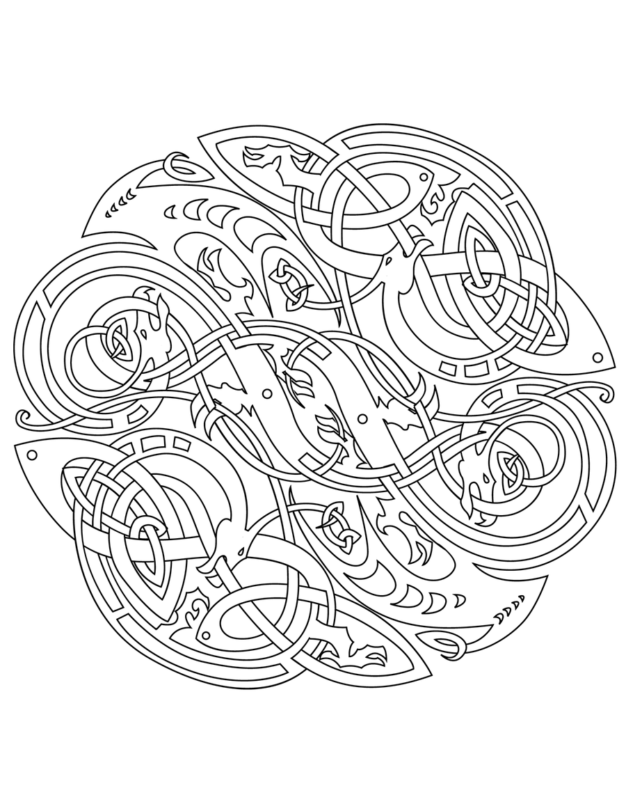 celtic vector colouring book by ikue - Celtic Coloring Book