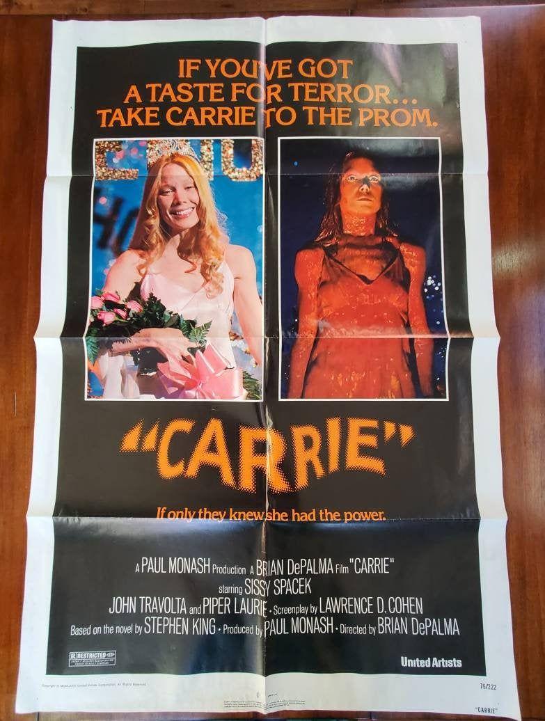 Original Vintage Movie Posters (Folded) PICK 1: Original 70's Rare Carrie Litho, Jurassic Park, The Legacy, Tootsie, Protocol, Tough Guys