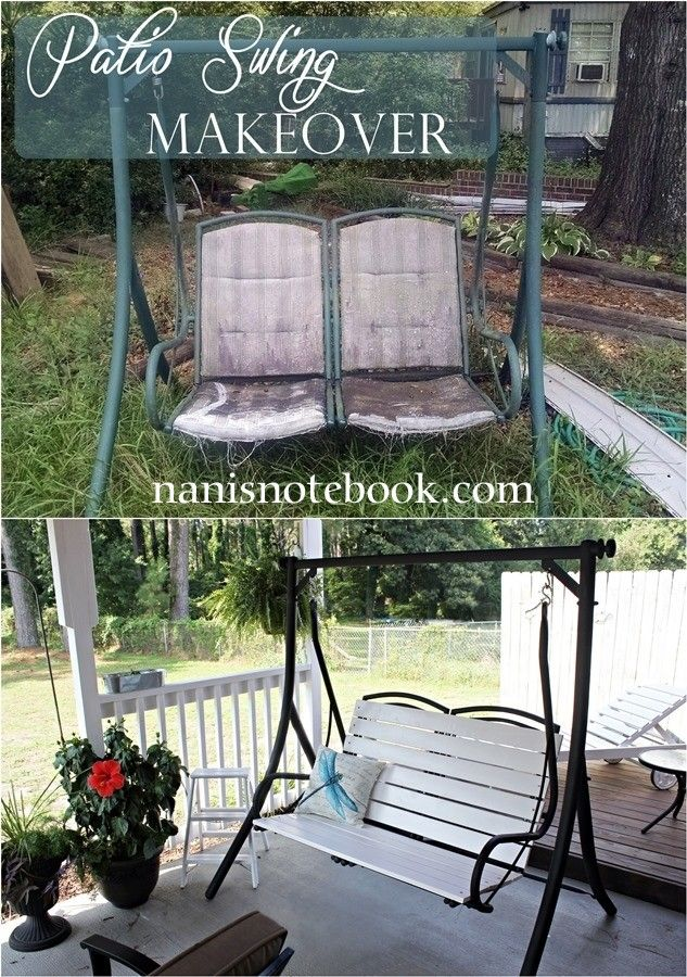 Patio Swing Makeover is part of Patio swing -